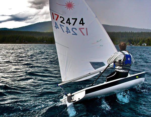 Photograph - Laser Sailboat Racing by Steven Lapkin