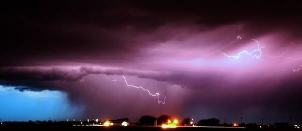 Photograph - Late Evening Nebraska Thunderstorm by NebraskaSC