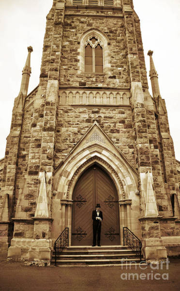Archway Photograph - Late For His Own Funeral by Jorgo Photography - Wall Art Gallery
