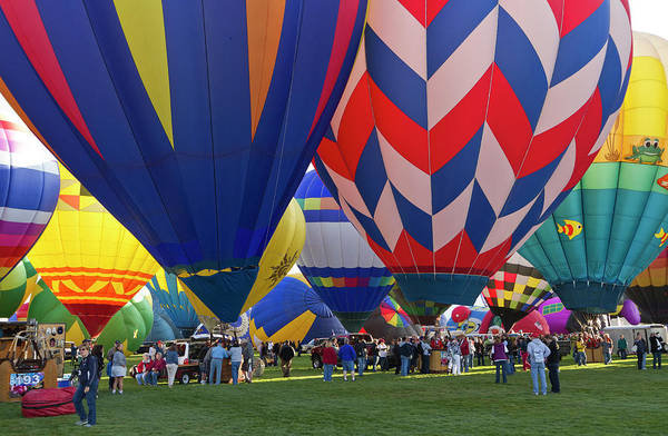 Wall Art - Photograph - Launch Site At The Albuquerque Hot Air by William Sutton