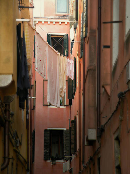 Photograph - Laundry Day In Venice by Micki Findlay