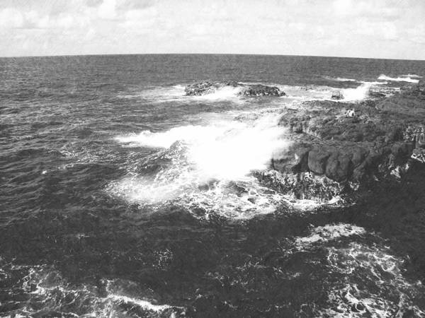 Photograph - Lava And Surf by Frank Wilson