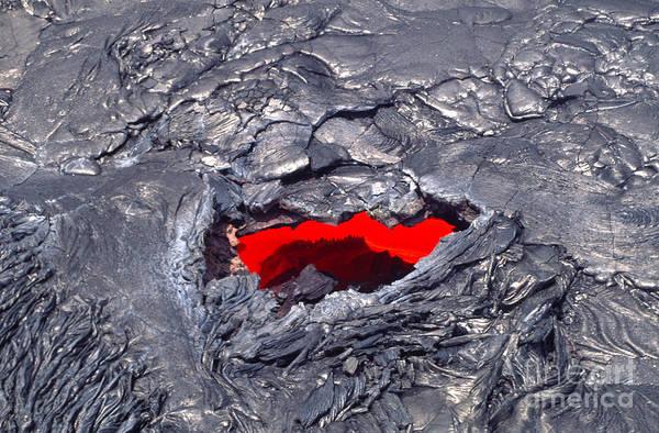 Photograph - Lava Tube, Kilauea Volcano, Hawaii by Douglas Peebles