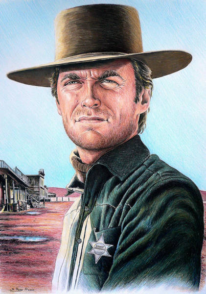 Clint Eastwood Drawing - Law And Order by Andrew Read