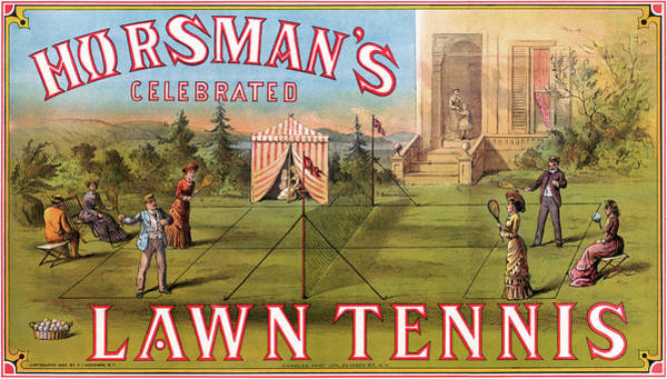 Wall Art - Painting - Lawn Tennis, 1882 by Granger