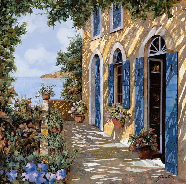 Terraces Wall Art - Painting - Le Porte Blu by Guido Borelli