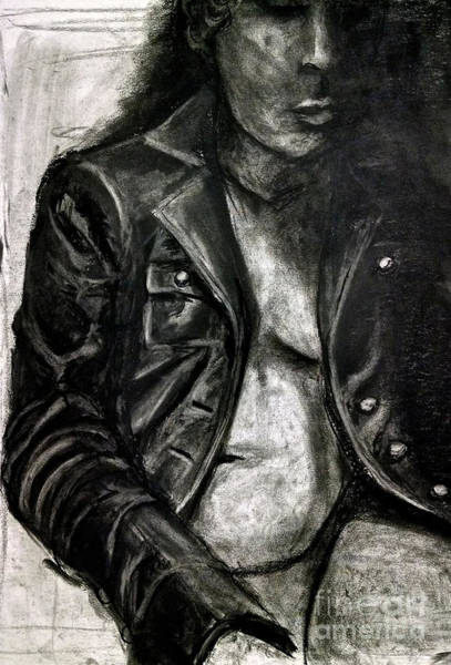 Art Print featuring the drawing Leather Jacket by Gabrielle Wilson-Sealy
