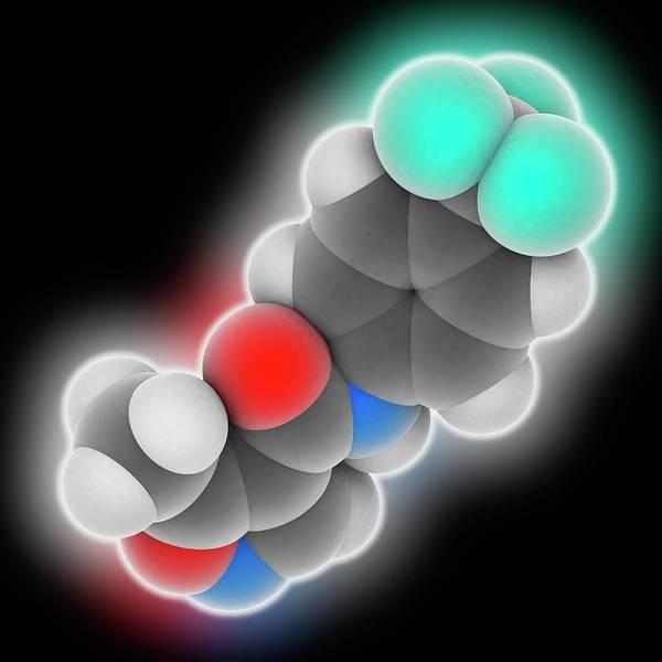 Leflunomide Drug Molecule Art Print