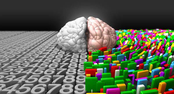 Contrast Digital Art - Left Brain Right Brain by Allan Swart