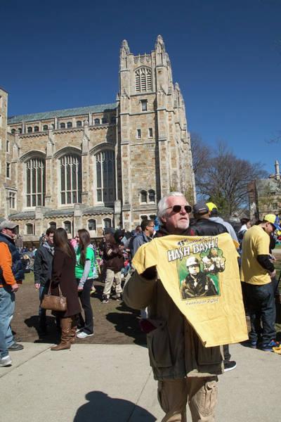 Demonstrators Photograph - Legalisation Of Marijuana Rally by Jim West