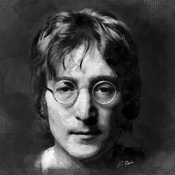 Digital Art - Lennon by Charlie Roman
