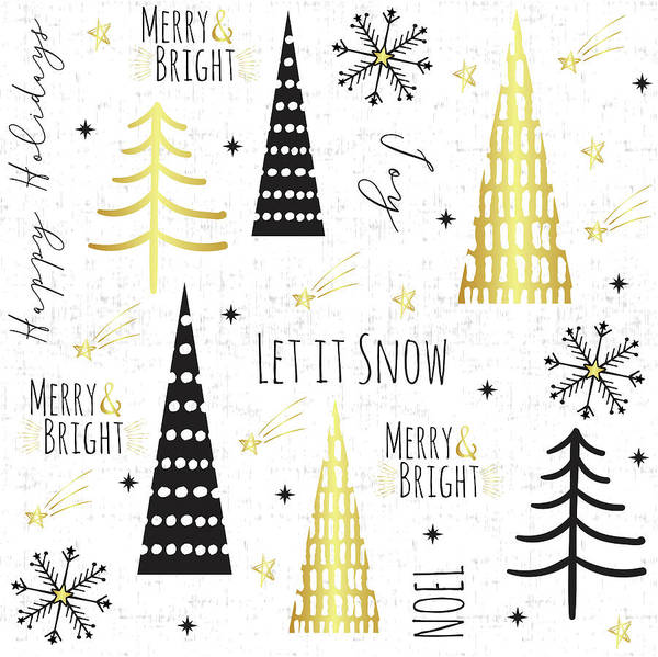 Wall Art - Painting - Let It Snow Collage by Nd Art & Design