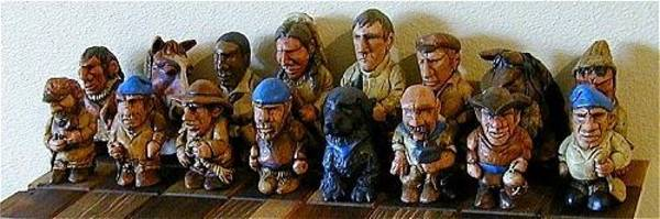 Sculpture - Lewis And Clark Chess Set by Tim  Joyner
