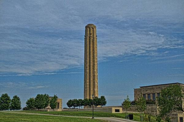 Photograph - Liberty Memorial Monument  And National World War 1 Museum by Tim McCullough