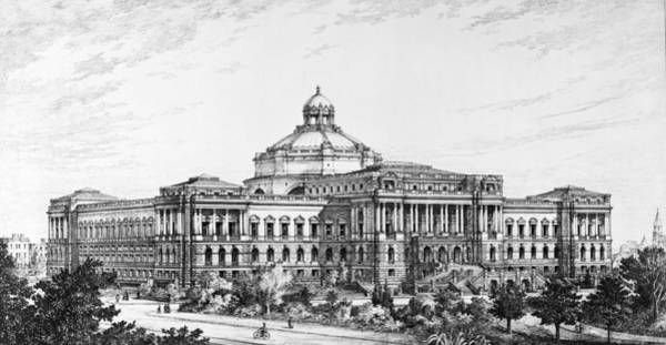 Wall Art - Drawing - Library Of Congress by Granger