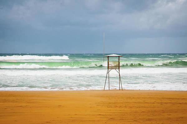 San Sebastian Photograph - Lifeguard Tower by Mmac72