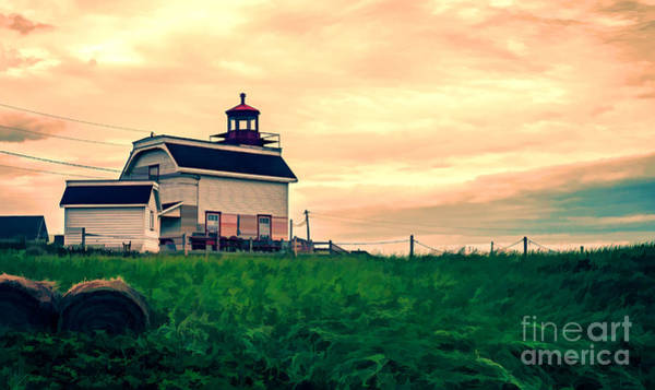 Photograph - Lighthouse Prince Edward Island by Edward Fielding