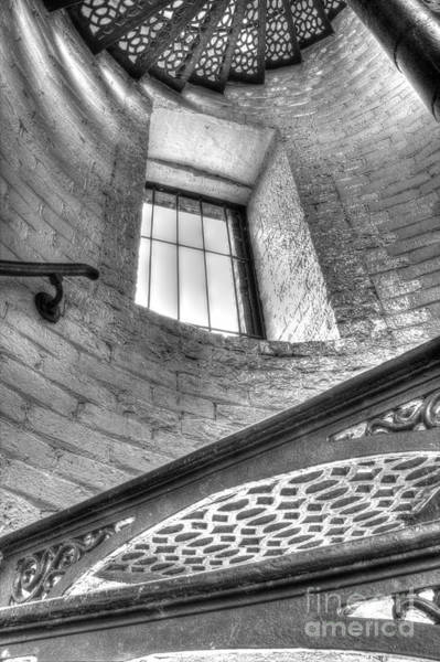 Upper Peninsula Wall Art - Photograph - Lighthouse Stairs In Black And White by Twenty Two North Photography
