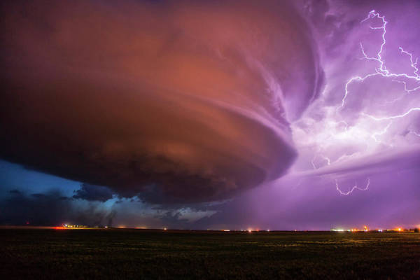 Wall Art - Photograph - Lighting And Supercell Storm by Roger Hill