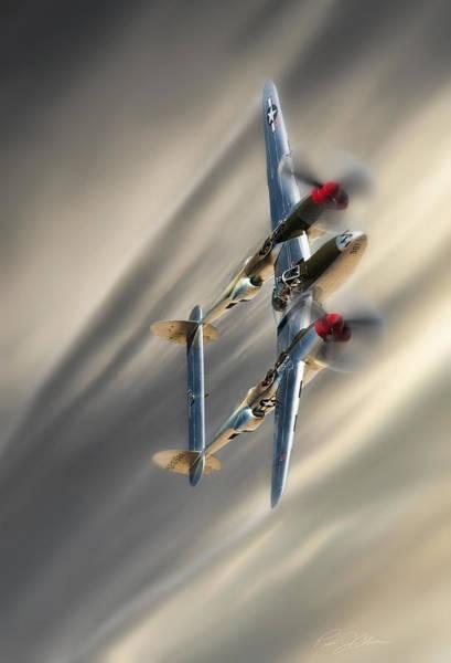 Wall Art - Digital Art - Lightning Speed by Peter Chilelli