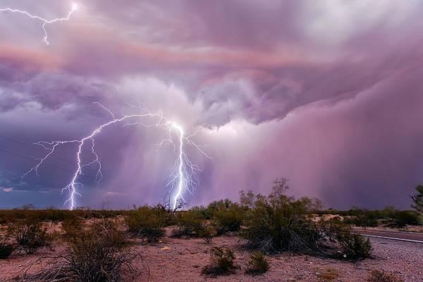Lightning Strike Photograph - Lightning Strikes by Roger Hill