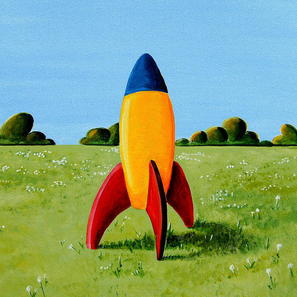 Wall Art - Painting - Lil Rocket by Cindy Thornton