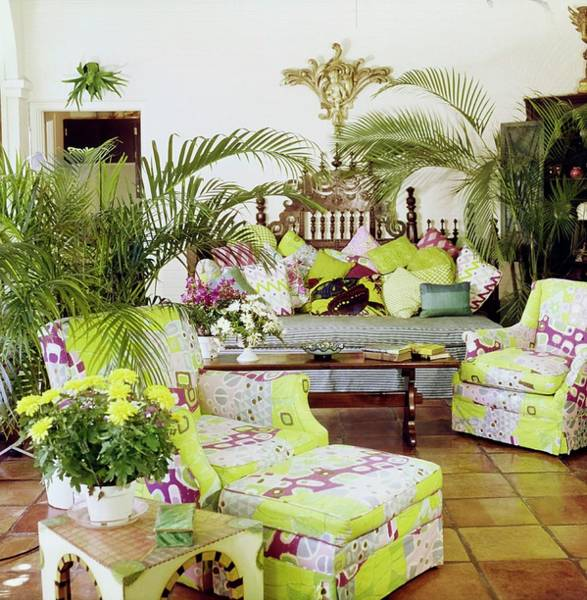 Wall Art - Photograph - Lilly Pulitzer's Living Room by Horst P. Horst
