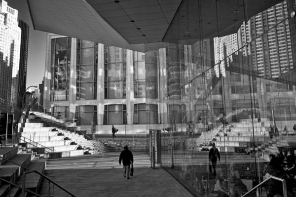 Fisher Center Photograph - Lincoln Center Reflections by Cornelis Verwaal