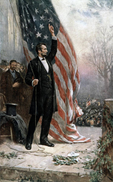 Inauguration Painting - Lincoln Independence Hall by Granger