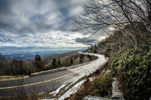 Photograph - Linn Cove Viaduct During Winter Near Blowing Rock Nc by Alex Grichenko