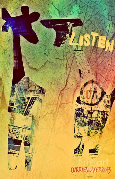 Digital Art - Listen by Currie Silver