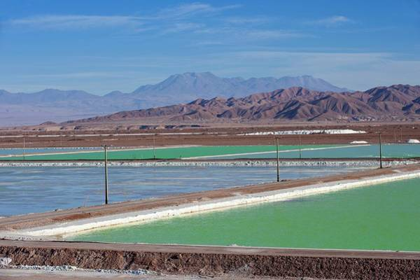Salt Pond Photograph - Lithium Evaporation Ponds by Philippe Psaila/science Photo Library