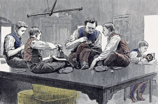Schooling Drawing - Little Boys Home At Farningham Britain 1891 by English School