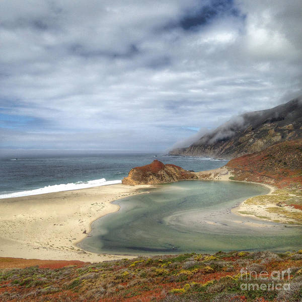 Photograph - Little Sur River In Big Sur by Charlene Mitchell