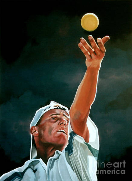 Concentration Wall Art - Painting - Lleyton Hewitt by Paul Meijering