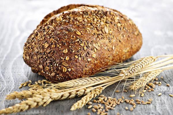 Photograph - Loaf Of Multigrain Bread by Elena Elisseeva