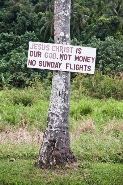 Rarotonga Photograph - Local Protest Sign Against Sunday by Thomas Pickard