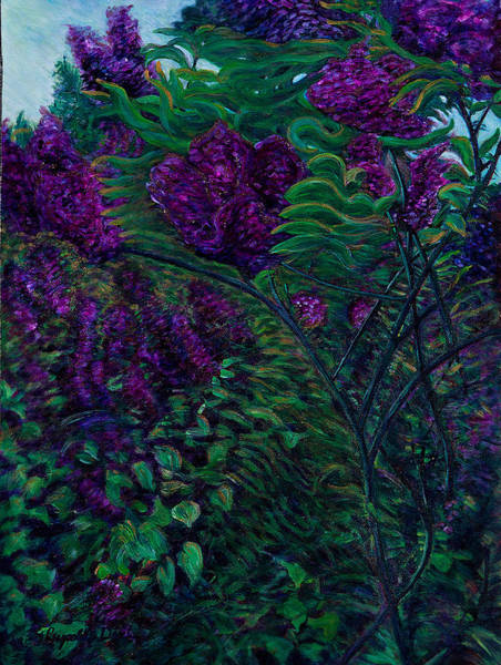 Painting - Lois Loves Lilacs by J Reynolds Dail