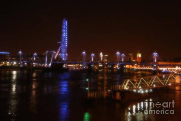 Photograph - London Eye At Night by Doc Braham