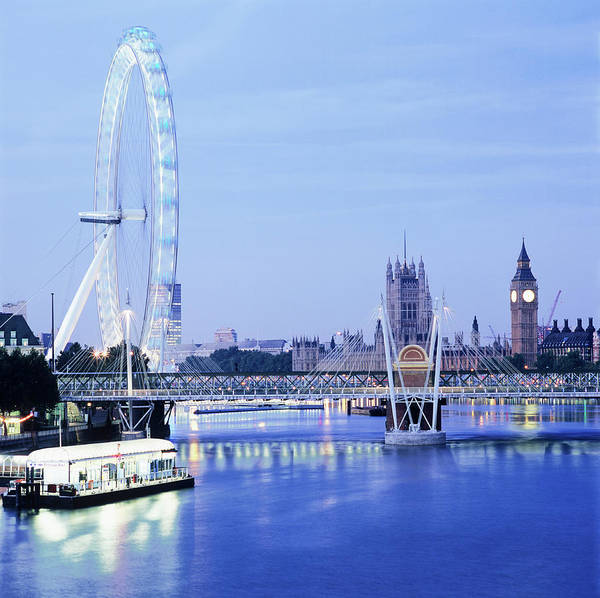 Houses Of Parliament Photograph - London Eye by Mark Thomas/science Photo Library