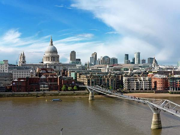 Financial Centre Photograph - London Skyline by Daniel Sambraus