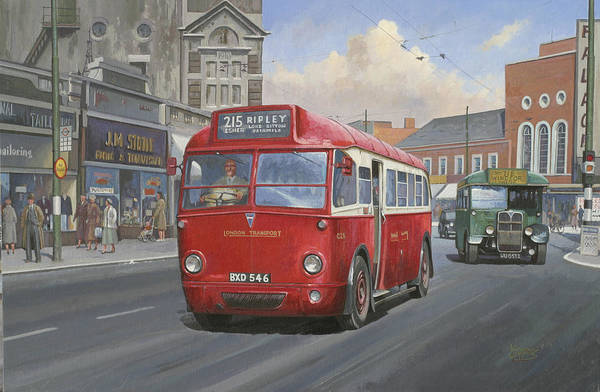 Wall Art - Painting - London Transport Q Type. by Mike Jeffries