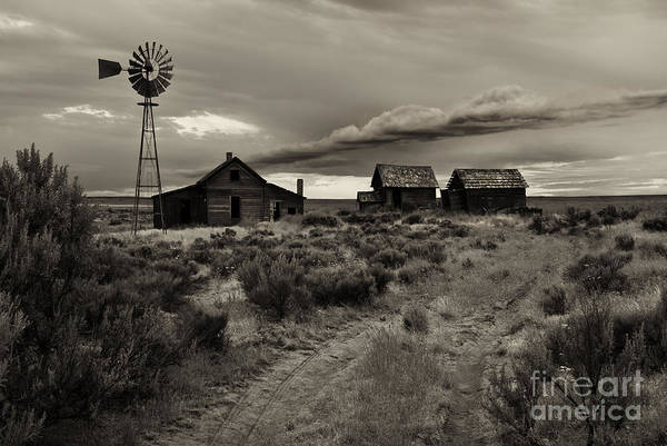 Farmhouse Photograph - Lonely House On The Prairie by Mike  Dawson