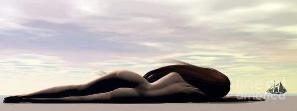 Longing Art Print by Sandra Bauser Digital Art
