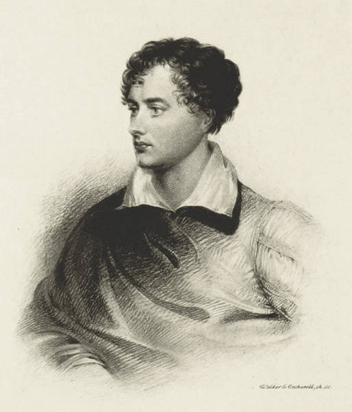 Notable Photograph - Lord Byron, English Romantic Poet by British Library
