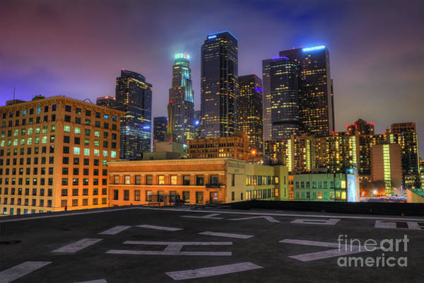 Photograph - Los Angeles Skyline At Night by Eddie Yerkish