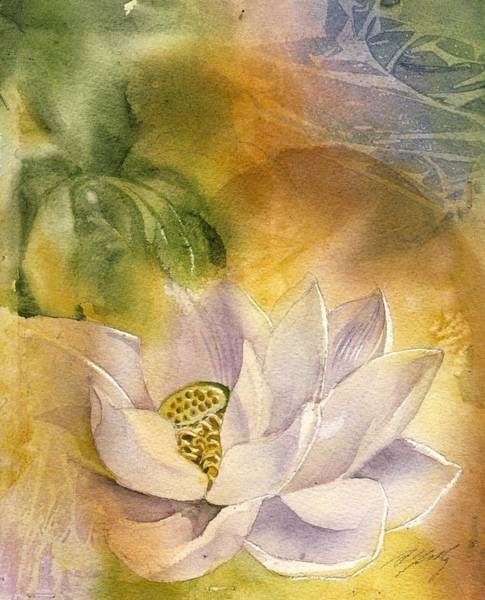 Painting - Lotus With Yellow by Alfred Ng