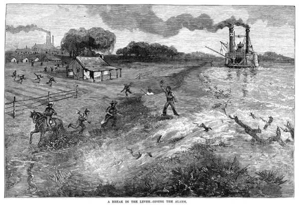 Riverboat Painting - Louisiana Broken Levee by Granger