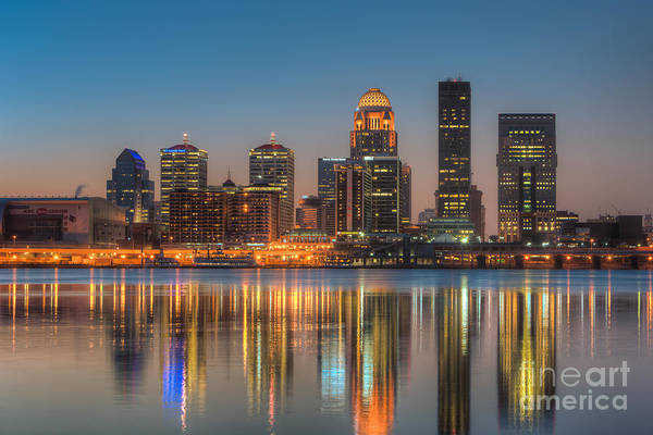 Photograph - Louisville Skyline Morning Twilight IIi by Clarence Holmes