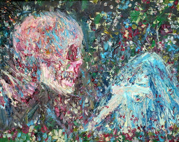 Skull Face Painting - Love Cannot Live By Heavenly Food Alone by Fabrizio Cassetta